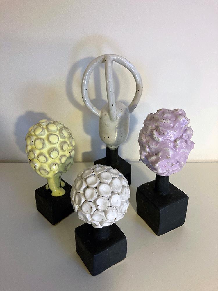 Tina Hvis, ceramic sculptures